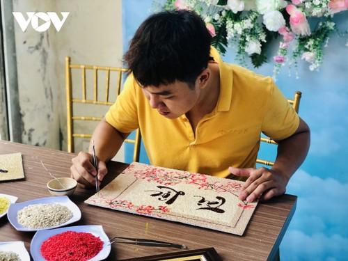 Les tableaux de grains de riz de Khuu Tân Buu - ảnh 2