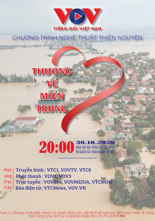 """VOV tổ chức chương trình nghệ thuật thiện nguyện """"Thương về miền Trung"""" - ảnh 1"""