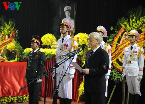 ザップ将軍の追悼式と埋葬式