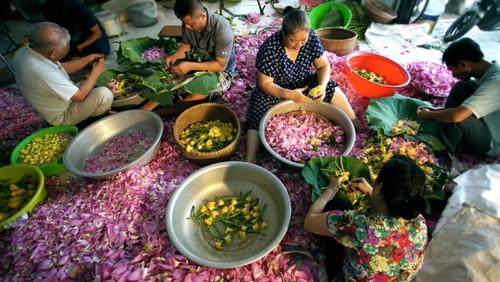 Ханойский лотосовый чай - утончённый вкус и изысканный аромат - ảnh 17