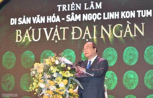 Thủ tướng Nguyễn Xuân Phúc mong muốn sâm Ngọc Linh ghi dấu ấn lịch sử mới cho ngành dược liệu Việt Nam - ảnh 1