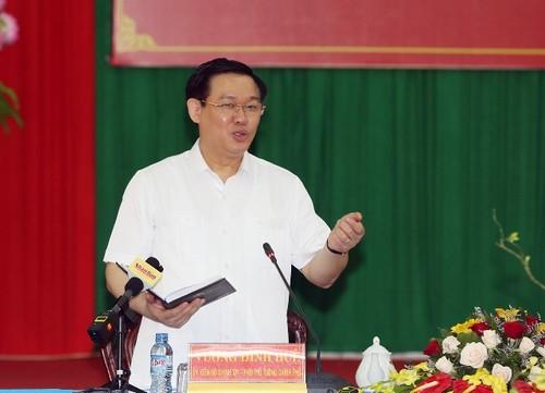 Phó Thủ tướng Vương Đình Huệ làm việc tại tỉnh Trà Vinh - ảnh 1