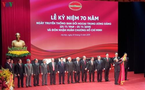 Ban Đối ngoại Trung ương đón nhận Huân chương Hồ Chí Minh - ảnh 1