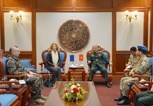 Việt Nam và EU thúc đẩy hợp tác trong lĩnh vực Gìn giữ hòa bình Liên hợp quốc - ảnh 1