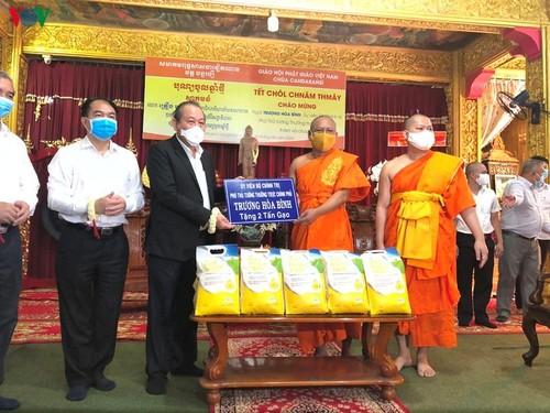 Phó Thủ tướng Trương Hoà Bình chúc tết đồng bào Khmer Nam bộ tại chùa Cadaransi - ảnh 1