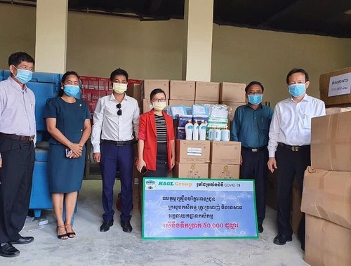 Tập đoàn Hoàng Anh Gia Lai trao tặng Bộ Nông, Lâm, Ngư nghiệp Campuchia thiết bị y tế  - ảnh 1