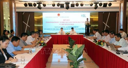 Diễn đàn tình hình kinh tế - xã hội Việt Nam 9 tháng năm 2020 và một số giải pháp - ảnh 1