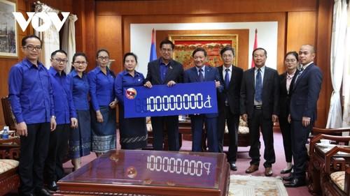 Đoàn Thanh niên Nhân dân Cách mạng Lào ủng hộ đồng bào miền Trung Việt Nam - ảnh 1