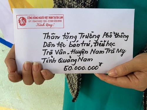 Cộng đồng người Việt ở Ba Lan đến với những ngôi trường ở vùng lũ - ảnh 5