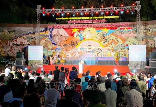 Giao lưu nhân kỷ niệm 60 năm Ngày thành lập Mặt trận Dân tộc giải phóng miền Nam - ảnh 1