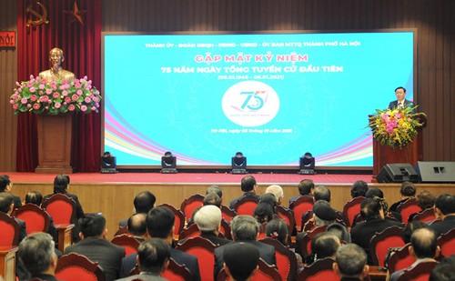 Hà Nội gặp mặt các thế hệ đại biểu Quốc hội nhân kỷ niệm 75 năm Ngày Tổng tuyển cử đầu tiên - ảnh 1