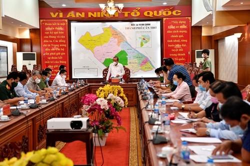 Phó Thủ tướng Trương Hòa Bình kiểm tra công tác phòng chống dịch tại Cần Thơ - ảnh 1