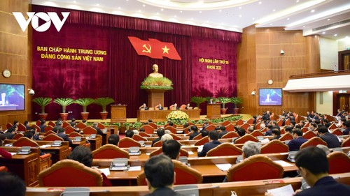 Party Central Committee opens 15th plenum to nominate key personnel  - ảnh 1