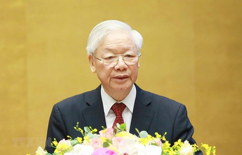 Party General Secretary Nguyen Phu Trong's speech on 5-year implementation of  Directive No.5 - ảnh 1