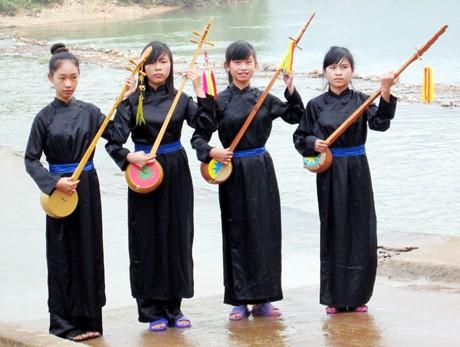 越南广宁省岱依族同胞的传统乐器——丁琴 - ảnh 1