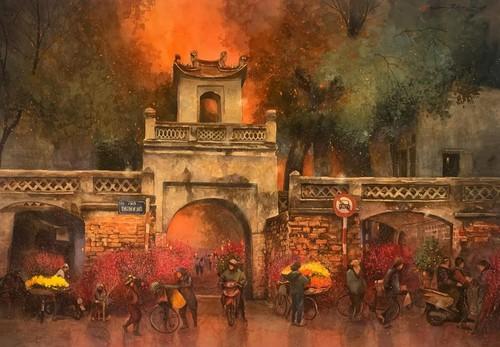 Ханой на картинах сайгонского художника - ảnh 10