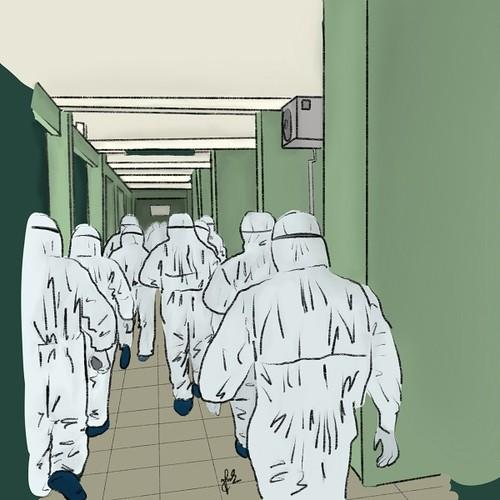 Hình ảnh cảm động về đội ngũ y, bác sĩ - những chiến binh thời bình - ảnh 6