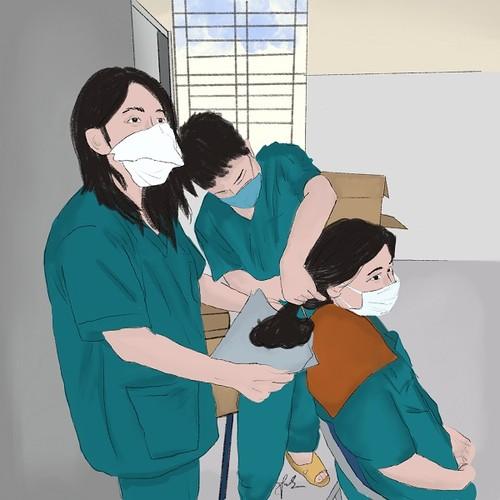 Hình ảnh cảm động về đội ngũ y, bác sĩ - những chiến binh thời bình - ảnh 7