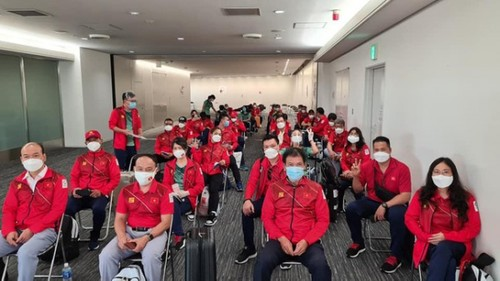 Vietnamese athletes arrive in Japan for 2020 Tokyo Olympics - ảnh 2
