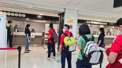 Vietnamese athletes arrive in Japan for 2020 Tokyo Olympics - ảnh 5