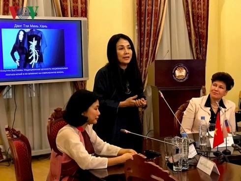 Vietnamese Ao Dai introduced in Russia - ảnh 1