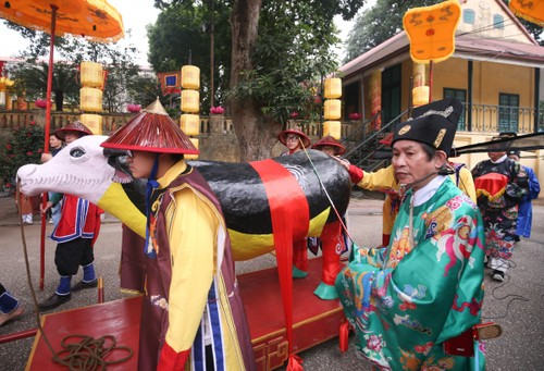 "Lion dance and ""Tien Xuan Nguu"" ritual to welcome Lunar New Year  - ảnh 6"