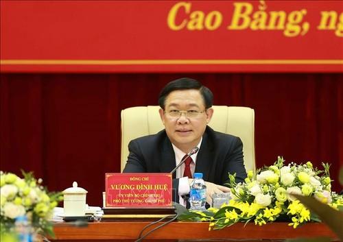 Phó Thủ tướng Vương Đình Huệ làm việc với tỉnh Cao Bằng - ảnh 1