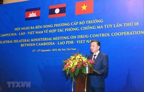 Việt Nam- Lào và Campuchia tăng cường hợp tác phòng chống ma túy - ảnh 1