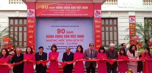 """Khai mạc trưng bày """"90 năm Đảng Cộng sản Việt Nam-Những mốc son lịch sử"""" - ảnh 1"""