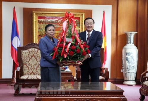 Đảng Nhân dân Cách mạng Lào tự hào trước những thành tựu của Đảng Cộng sản Việt Nam  - ảnh 1