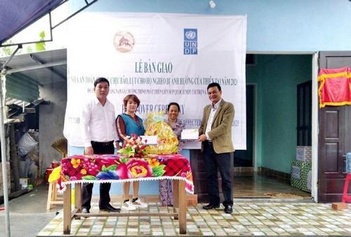 UNDP bàn giao nhà an toàn chống bão lụt cho hộ nghèo ở Quảng Nam - ảnh 1