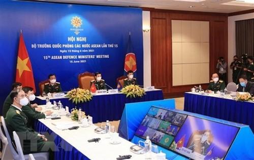 Hội nghị trực tuyến Bộ trưởng Quốc phòng các nước ASEAN lần thứ 15 - ảnh 2