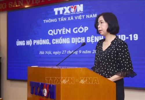 Thông tấn xã Việt Nam ủng hộ công tác phòng, chống dịch COVID-19 - ảnh 1