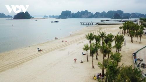 Bãi tắm mới trên đường bao biển Hạ Long sẽ khai trương dịp nghỉ lễ 30/4 - ảnh 3