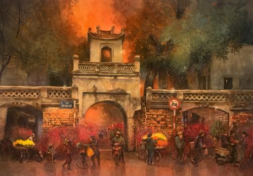 Ngắm bộ tranh tuyệt đẹp về Hà Nội được vẽ bằng tình yêu của họa sĩ TP.HCM - ảnh 10