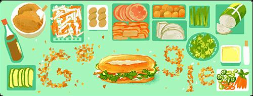 Google Doodle honra el banh mi vietnamita en 10 países - ảnh 1