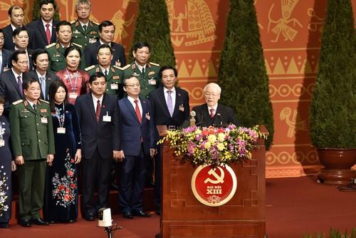 La population salue le succès du 13e Congrès national du PCV - ảnh 1