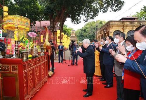 Nguyên Phu Trong à la Cité royale de Thang Long - ảnh 1