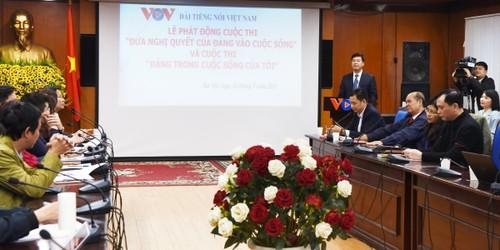 VOV: lancement du concours «Mise en œuvre des résolutions du Parti» - ảnh 1