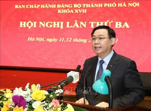 Hanoï prévoit 10 programmes pour mettre en œuvre la résolution du 13e Congrès national du Parti - ảnh 2