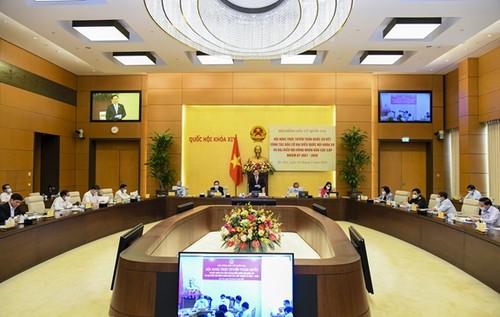 Vuong Dinh Huê préside la visioconférence nationale sur les élections législatives - ảnh 1