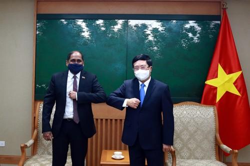 Pham Binh Minh reçoit le nouvel ambassadeur singapourien au Vietnam - ảnh 1