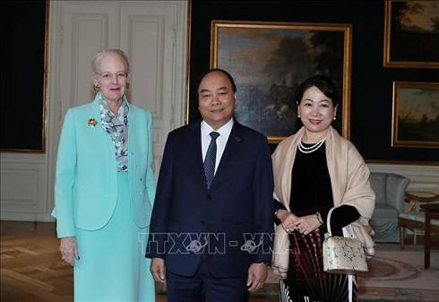 Thủ tướng Nguyễn Xuân Phúc tiếp kiến Nữ hoàng Đan Mạch - ảnh 1