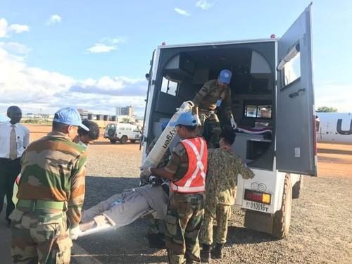 Bệnh viện Dã chiến cấp 2 Việt Nam triển khai tiếp nhận bệnh nhân tại Nam Sudan  - ảnh 14
