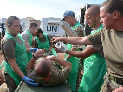Bệnh viện Dã chiến cấp 2 Việt Nam triển khai tiếp nhận bệnh nhân tại Nam Sudan  - ảnh 7