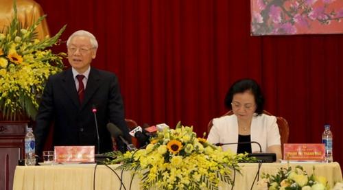 Tổng Bí thư, Chủ tịch nước Nguyễn Phú Trọng làm việc với Tỉnh Yên Bái - ảnh 2