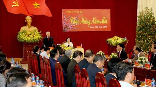 Tổng Bí thư, Chủ tịch nước Nguyễn Phú Trọng làm việc với Tỉnh Yên Bái - ảnh 3