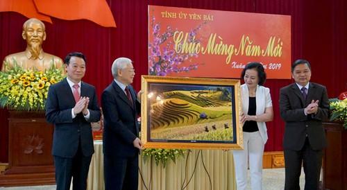 Tổng Bí thư, Chủ tịch nước Nguyễn Phú Trọng làm việc với Tỉnh Yên Bái - ảnh 5