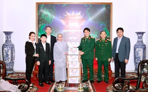 Hội Phật tử Việt Nam tại Hàn Quốc thăm và tặng quà Trung tâm cách ly người từ vùng dịch trở về - ảnh 1
