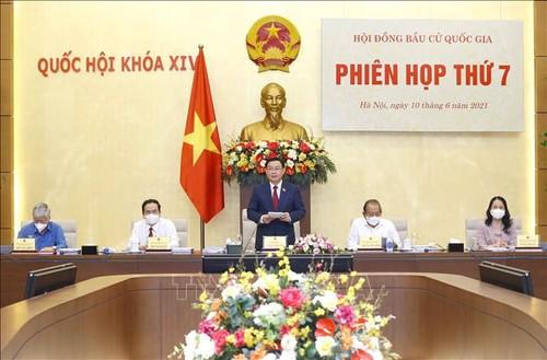 Chủ tịch Quốc hội Vương Đình Huệ chủ trì Phiên họp thứ 6 Hội đồng Bầu cử quốc gia - ảnh 1